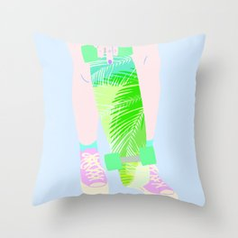 SUMMER SKATEBOARDING Throw Pillow