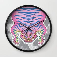 TIBETAN TIGER CANDY (white) Wall Clock