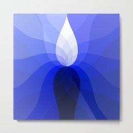 Monochromatic Blue Metal Print