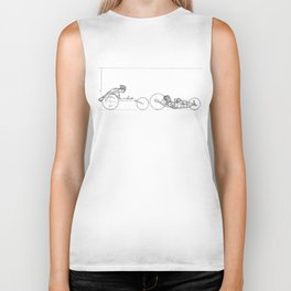 Transitions through Triathlon Para Cyclist Drawing Biker Tank