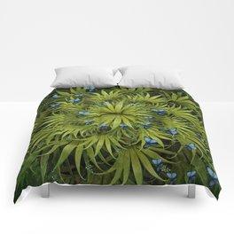"""El Bosco fantasy, tropical island blue butterflies"" Comforters"