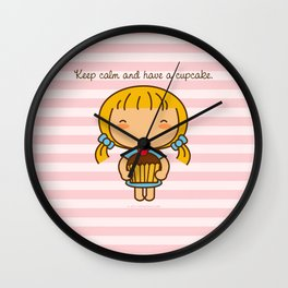 Keep calm and have a cupcake. Wall Clock