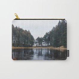 Tree Lined Lake Photography Print Carry-All Pouch