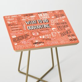 What To Do In Quarantine 01 Side Table