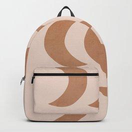 Pastel half moon pattern Backpack