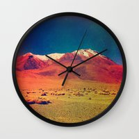 saturn Wall Clocks featuring Saturn. by Daniel Montero