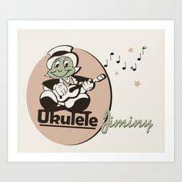 Ukelele Jiminy Art Print