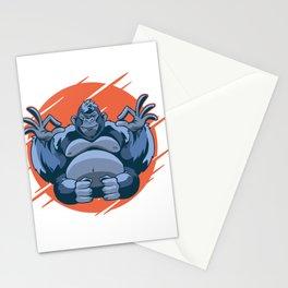Gorilla meditating meditation Stationery Cards