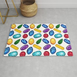Colorful Minerals Pattern Rug