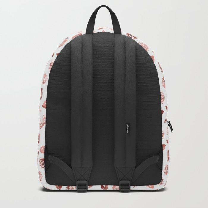 Rosette Rose Gold Backpack