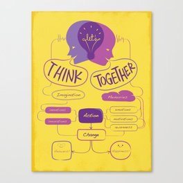 Let's Think Together!  Canvas Print