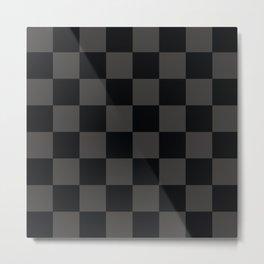 Black & Gray Checkered Pattern Metal Print