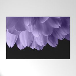 Ultra violet purple flower petals black Welcome Mat