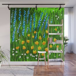Lavender and Poppies Wall Mural