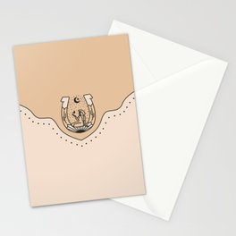 Good Fortune Gal - Neutral & Black Stationery Cards