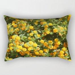 Blooming Lantana Plant Rectangular Pillow