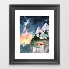 Night Camper Framed Art Print