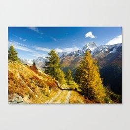 Lötschental in autumn Canvas Print