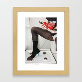 My Kitchen is for Dancing Framed Art Print