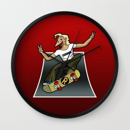 Pat The Skateboard Cat Wall Clock