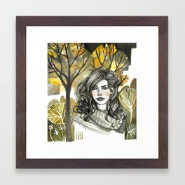 Freckles Framed Art Print
