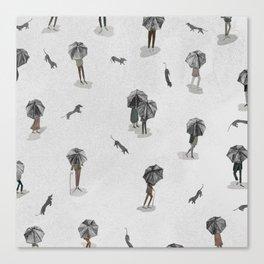 Running through the rain2 Canvas Print
