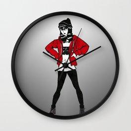 Red Sweater - B&W Variant  Wall Clock