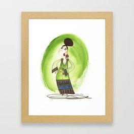 Cocktail Lady 3 Framed Art Print