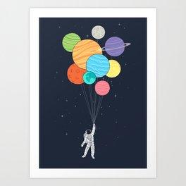 Planet Balloons Kunstdrucke