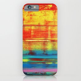Sunny Sunset, Colorful Abstract Art iPhone Case