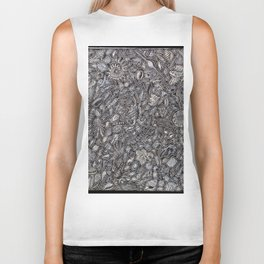 Sea shells Ocean decor Biker Tank