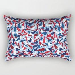 Break the Glass Ceiling! Red White & Blue Rectangular Pillow