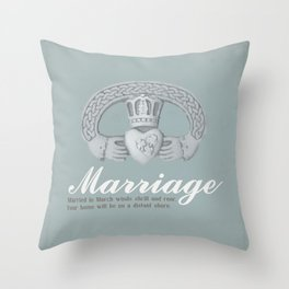 March Marriage Throw Pillow