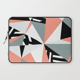 Modern Geometric 45 Pink Laptop Sleeve