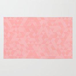 Pastel Millennial Pink Geometric Pattern Rug