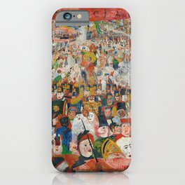Christ's Entry into Brussels by James Ensor, 1889 iPhone Case