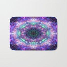 Trippy Purple Deep Space Mandala Bath Mat