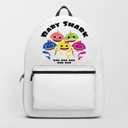 Baby Shark Family design in Adult & Kid Sizes Doo Doo Backpack
