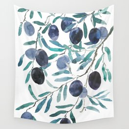 black olive watercolor 2018 Wall Tapestry