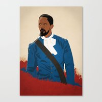 django Canvas Prints featuring Django by Anton Lundin