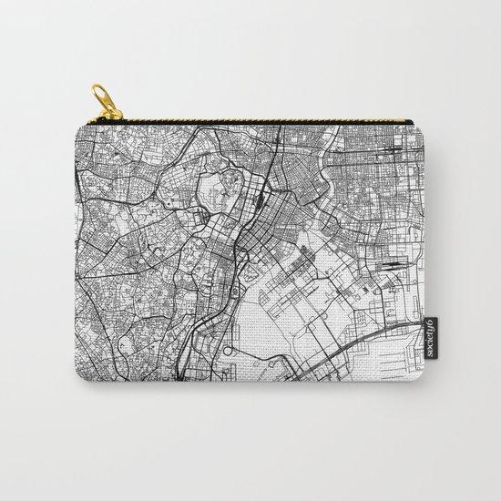 Tokyo White Map by multiplicity