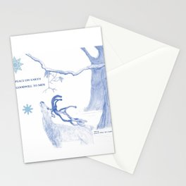 Peace On Earth - Blue Stationery Cards