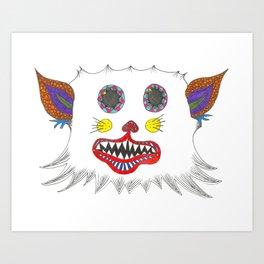 Whimsically Enwhiskered Art Print