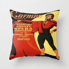 Vintage poster - Carmen Throw Pillow