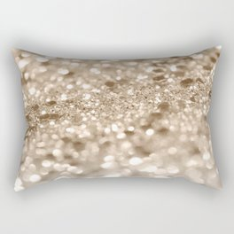 Gold Lady Glitter #2 #shiny #decor #art #society6 Rectangular Pillow