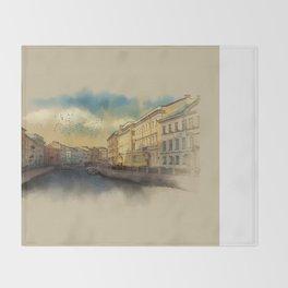 St. Petersburg, Moika river embankment. Throw Blanket