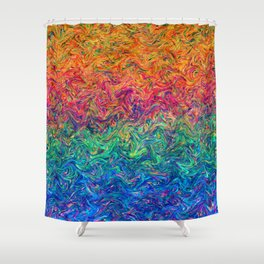 Fluid Colors G249 Shower Curtain