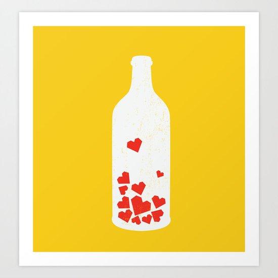 Message in a bottle Art Print
