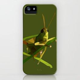 Grasshopper Illustration iPhone Case