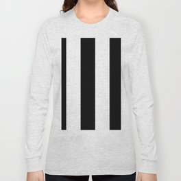 5th Avenue Stripe No. 2 in Black and White Onyx Long Sleeve T-shirt